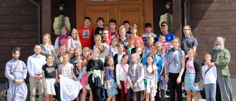 Диакон Павел Журавский с группой молодежи кафедрального собора принял участие в молодежном слёте «Святая Русь»