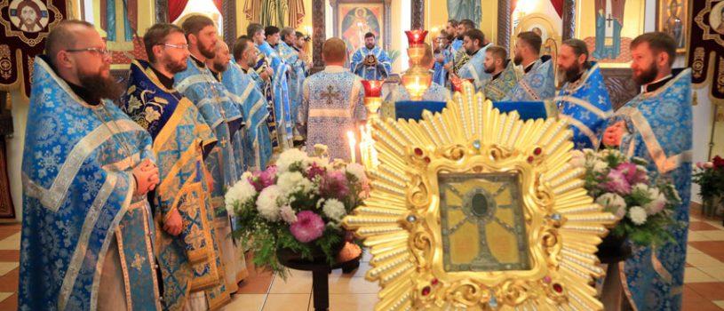 Состоялась Божественная литургия перед Жировицкой иконой Божией Матери
