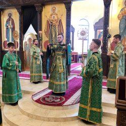 В Вербное воскресенье епископ Серафим совершил Божественную литургию и диаконскую хиротонию в Никольском соборе