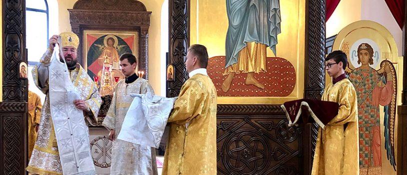 Епископ Серафим совершил Божественную литургию и иерейскую хиротонию