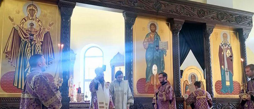 В Великий Четверток епископ Серафим совершил Божественную литургию и диаконскую хиротонию монаха Емилиана