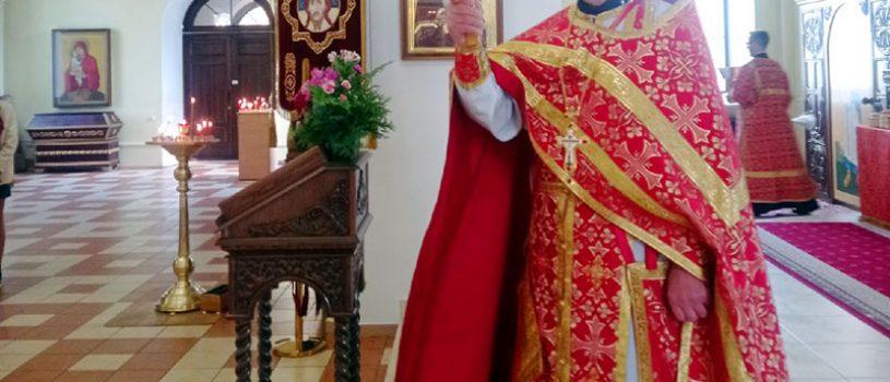 В среду Светлой седмицы протоиерей Михаил Прокофьев совершил Божественную литургию в кафедральном соборе